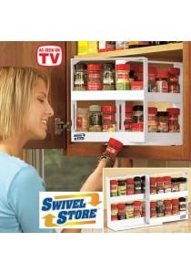 Swivel Store Space Saving Spice Organiser