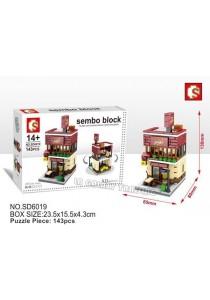 Sembo Block SD6019 Pizza Store mini street city building blocks (Lego Compatible)