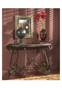 Rafferty Sofa Table (Dark Brown)
