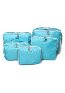 Korean Fashion Set of 5 Pieces Travel Organizer (Blue)