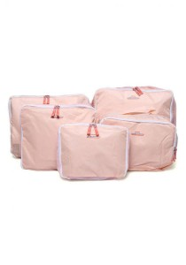 Korean Fashion Set of 5 Pieces Travel Organizer (Pink)