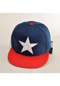 TEEMI Snapback Hip Hop Hats Adjustable Baseball Cap STAR (Blue Red Dual Tone)