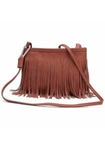 TEEMI Retro Vintage Tassel PU Leather Fringe Crossbody Sling Bag