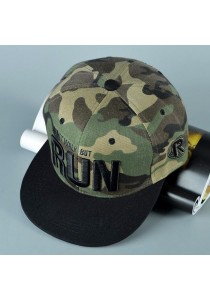 TEEMI Snapback Hip Hop Hats Adjustable Baseball Cap RUN (Camouflage