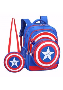 TEEMI Captain America Shield Backpack Primary Secondary School Bag for Kids