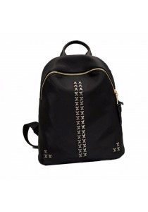 TEEMI Gold Tone Chic Style Waterproof Nylon Backpack