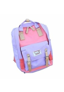 TEEMI Contrast Color Macaron Donut Fashion Backpack Korean Handbag School Travel Laptop Bag