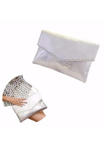 TEEMI Metallic Envelope Clutch Textured PU Faux Leather Shoulder Bag Glitter Evening Party Handheld Purse