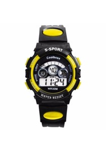 TEEMI Teen / Adult Waterproof Sports LED Digital Watch Rainbow Back Light