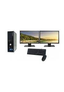 (Refurbished) Dell Optiplex 755 (SFF) Desktop PC + Windows 7 Professional (64-Bit) + Dual 17