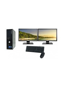 (Refurbished) Dell Optiplex 760 (SFF) Desktop PC + Dual 17