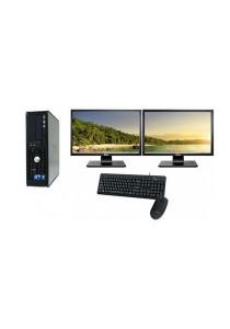 (Refurbished) Dell Optiplex 760 (SFF) Desktop PC + Dual 19