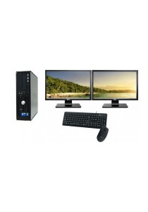 (Refurbished) Dell Optiplex 780 (SFF) Desktop PC + Microsoft Office Home & Student 2016 + Dual 17