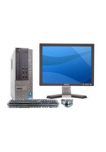 (Refurbished) Dell Optiplex 790 (SFF) Desktop PC + Dell 17
