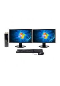 (Refurbished) Dell Optiplex 960 (SFF) Desktop PC + Microsoft Office Home & Business 2016 + Dual 17