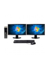 (Refurbished) Dell Optiplex 960 (SFF) Desktop PC + Microsoft Office Home & Student 2016 + Dual 17