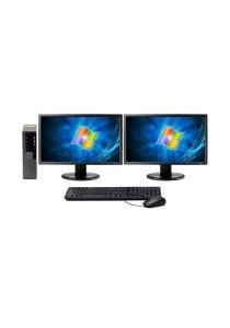 (Refurbished) Dell Optiplex 960 (SFF) Desktop PC + Microsoft Office Home & Student 2016 + Dual 19