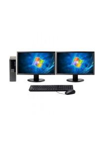 (Refurbished) Dell Optiplex 960 (SFF) Desktop PC + Dual 19