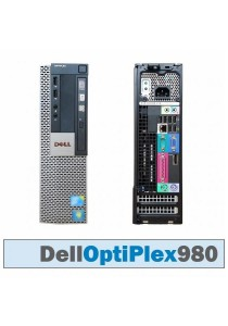 (Refurbished) Dell Optiplex 980 (SFF) Desktop PC + Windows 7 Professional (32-bit) + WiFi USB Adapter + Extended Warranty - 6 Months