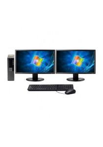 (Refurbished) Dell Optiplex 980 (SFF) Desktop PC + Windows 7 Professional (64-bit) + Dual 19