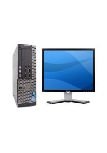 (Refurbished) Dell Optiplex 990 (SFF) Desktop PC + Dell 17