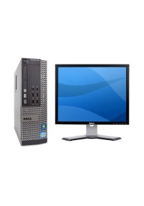 (Refurbished) Dell Optiplex 990 (SFF) Desktop PC + Dell 17