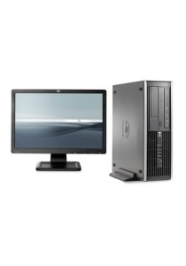 (Refurbished) HP Compaq Elite 8000 (SFF) Desktop PC + 19