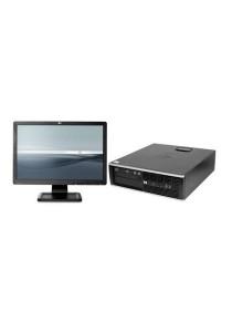 (Refurbished) HP Compaq Elite 8300 (SFF) Desktop PC + 19