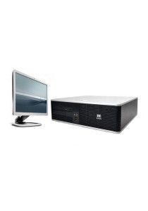 (Refurbished) HP Compaq DC5800 (SFF) Desktop PC + 19
