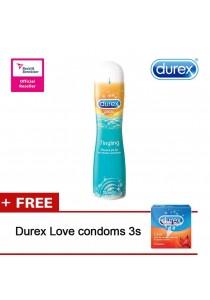 Durex Play Gel 100ml Tingle FOC 1 Box Condom 3s