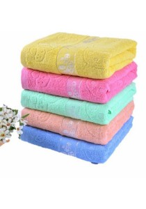 Set of 5 Cotton Bath Towel Adult Children 100% Cotton (Size: 70 X 140)