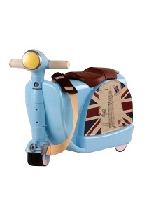 Children Wheel Luggage Scooter Toy Travel Baby Storage Box (Blue)