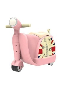 Children Wheel Luggage Scooter Toy Travel Baby Storage Box (Pink)