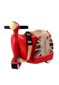 Children Wheel Luggage Scooter Toy Travel Baby Storage Box (Red)