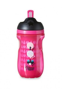 Tommee Tippee Insulated Straw Cup 266ml 447025/38 Pink