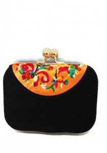 Papillon Clutch - Colourful Embroidery PC-150022