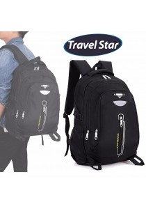 Travel Star 9912 Premium Double Strap Laptop Backpack- Black