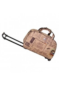 TRAVEL STAR Large Capacity Duffel Travel Bag With Trolley- Design 4