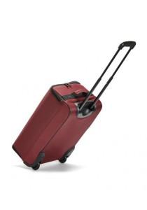 FASHION TEE Folding Trolley Luggage Trolley Bag 22 Inch (Dark Red)
