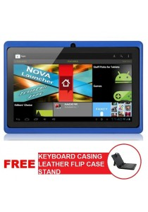 "7"" Ewing Dual Core Android 4.2 Tablet HDMI Wifi + Ext 3G Actions Epad + Keyboard Casing Leather Flip Case Stand (Micro USB)"