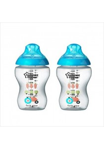Tommee Tippee - PP Tinted Bottle Twin (2 x 260ml/9oz) *Blue*