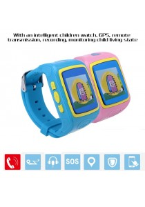 Ewing TU01 SOS Call GPS LBS Location Finder Locator Tracker Anti Lost Kids Smart Watch For Android IOS
