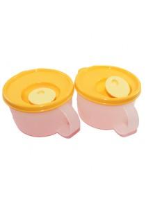 Tupperware CrystalWave Microwavable Reheatable Soup Mug 2 x 460ml