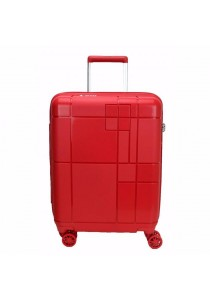 """Echolac PW003 PP Monogram Spinner Case Luggage 24"""" (Red)"""