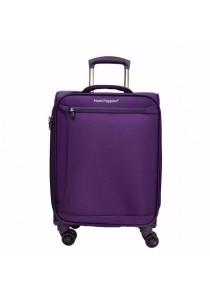 "Hush Puppies 693134 Expandable Soft Spinner Case Luggage 24"" (Purple)"