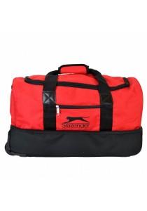 Slazenger SZ1050CP Duffle Bag with Trolley & Wheels (Black/Red)