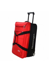"""Slazenger SZ1096 22"""" Rolling Duffle Bag with Trolley (Red)"""