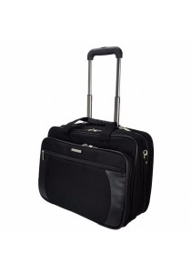 Slazenger SZ1099 Pilot Case Business Laptop Bag with Trolley (Black)