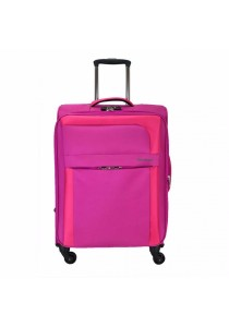 "Slazenger SZ1103 Soft Spinner Case Expandable Luggage 26"" (Pink)"