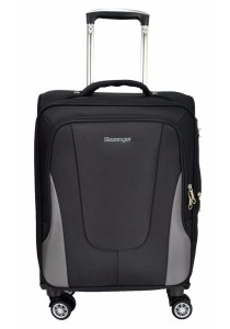 "Slazenger SZ1107 Expandable Soft Spinner Case Luggage 20"" (Black/Grey)"